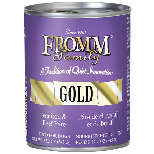 Fromm Gold Venison & Beef Dog Wet Food 12.2oz Can
