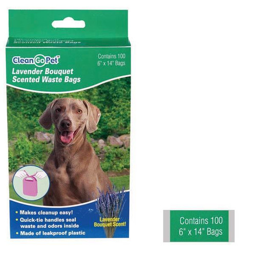 Clean Go Pet Lavender Scent Waste Bags 100 Pack