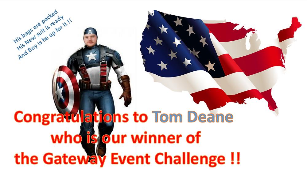 Tom Deane, Gateway Competition Winner