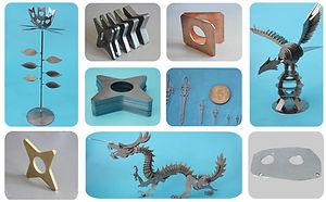 Metal Lazer Kesim makinası örnekler