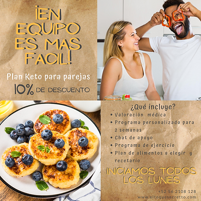 Plan en parejas Keto / Low Carb