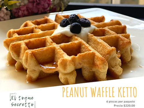 Peanut Butter Waffle Keto