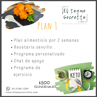 Plan 1 Keto /Low Carb
