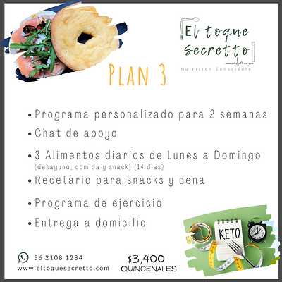 Plan 3 Keto /Low Carb