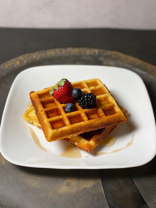 Waffles de Almendra Keto