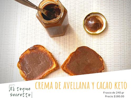 Crema de avellanas y cacao Keto