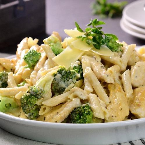 Pasta Alfredo con pollo y brocoli Ff