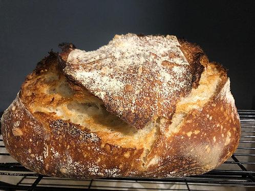 Pan campesino de masa madre