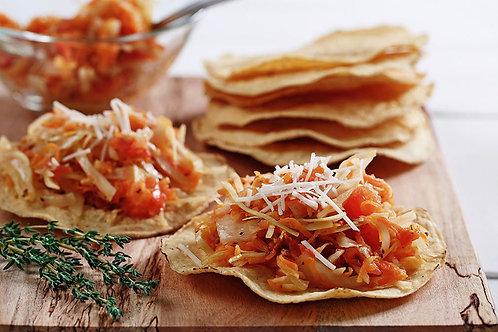 Tostadas de tinga de zanahoria y setas