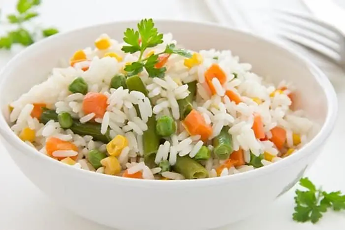 Arroz blanco con verduras Ff