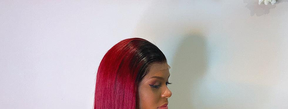 Lace bob Wiggs - dégradé rouge