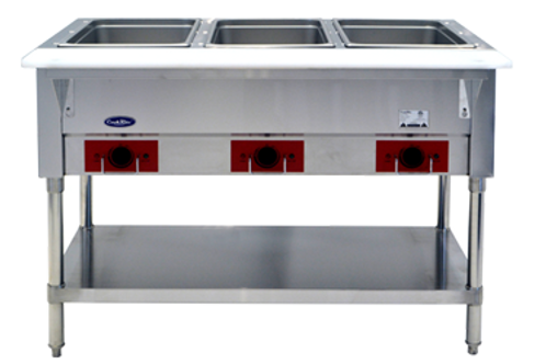 3 Compartment Electric Steam Table