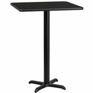 30'' SQUARE LAMINATE TABLE TOP WITH 22'' X 22'' BAR HEIGHT TABLE BASE