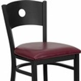HERCULES SERIES BLACK CIRCLE BACK METAL RESTAURANT BARSTOOL - VINYL SEAT
