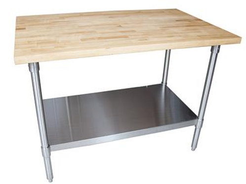 "HARD MAPLE FLATTOP TABLE, 48""x 36"" X 1-3/4, OIL FINISH"