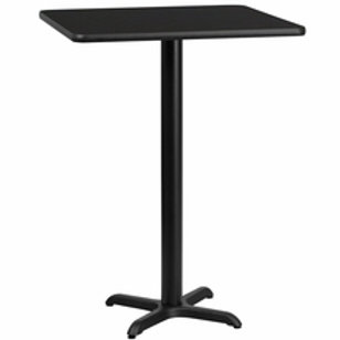 24'' SQUARE LAMINATE TABLE TOP WITH 22'' X 22'' BAR HEIGHT TABLE BASE