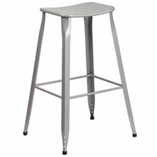 29.75'' HIGH METAL INDOOR-OUTDOOR SADDLE COMFORT BARSTOOL