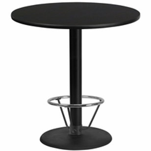 42'' ROUND LAMINATE TABLE TOP WITH 24'' ROUND BAR HEIGHT TABLE BASE W/FOOT RING