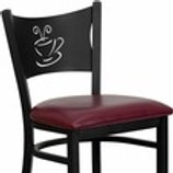 HERCULES SERIES BLACK COFFEE BACK METAL RESTAURANT BARSTOOL - VINYL SEAT