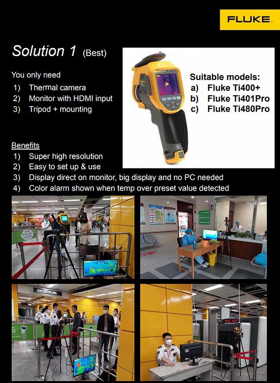 fluke temp solution COVID-19 wuhan