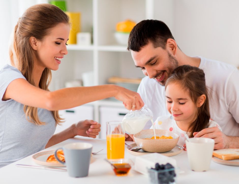 Family, healthy breakfast