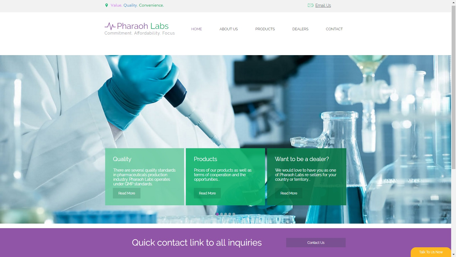 Landing page 4 labs