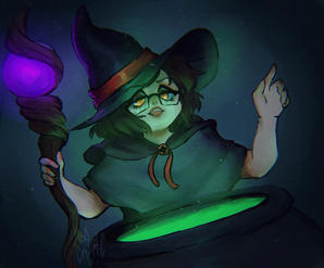 witch with Couldron