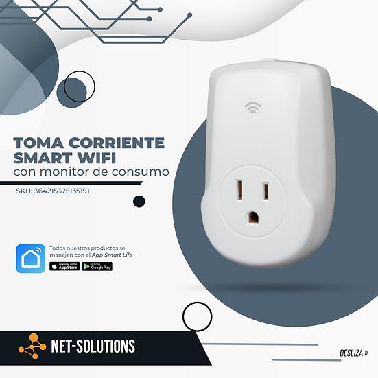 Toma Corriente SMART Wifi con monitor de consumo