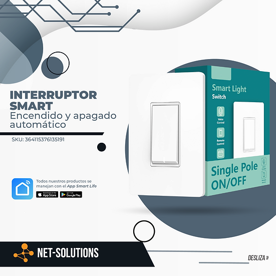 Interruptor SMART | Encendido y apagado automático