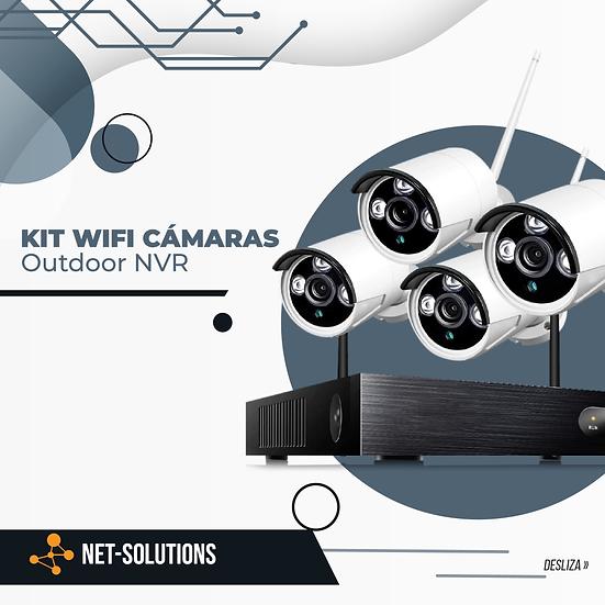 Kit NVR y 4 Camaras Wifi (No Disco Duro)