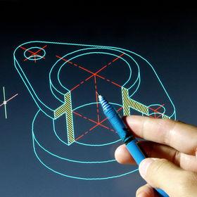 engineer working on cad blue print .jpg