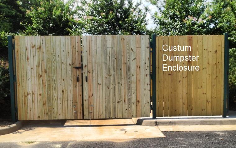 Exterior Dumpster Enclosure