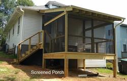 Exterior screened porch