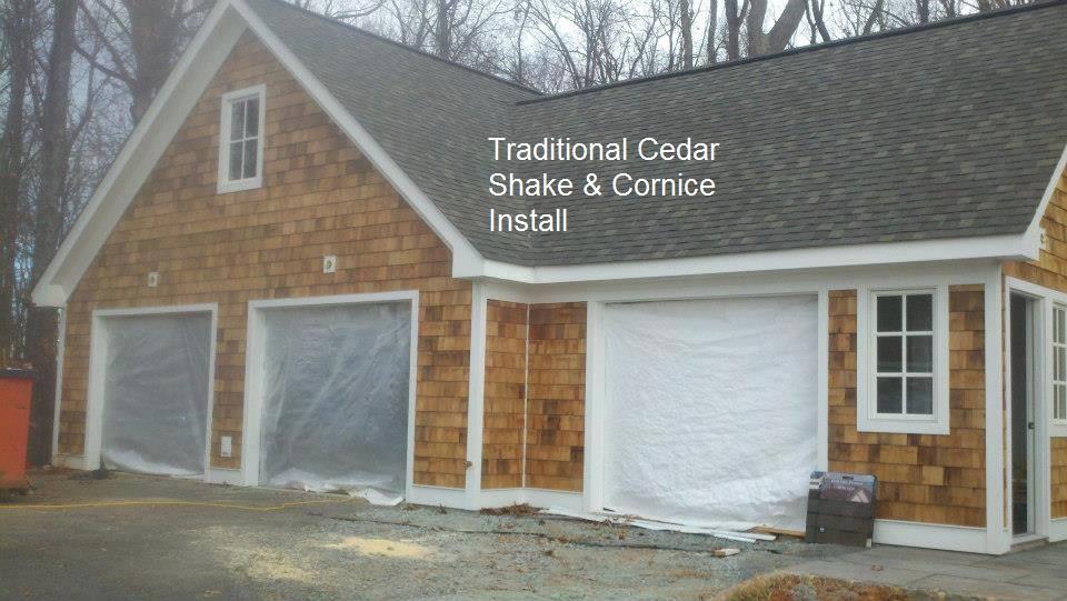 Exterior cedar shake