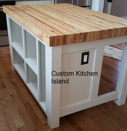 Interior kitchen island
