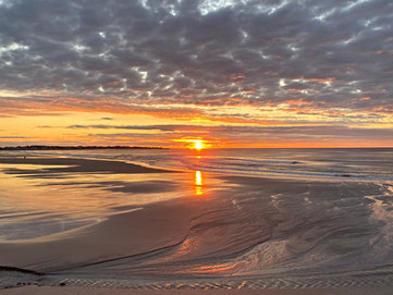 Sunrise at Rocks Beach in Biddeford Pool