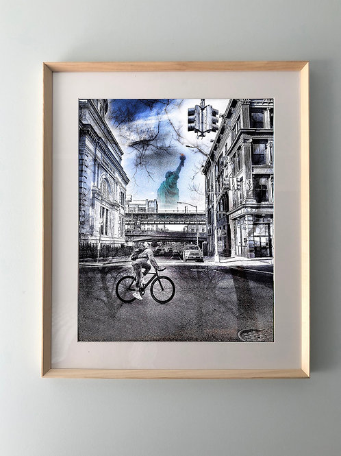 """Brooklyn & The Lady"" Framed Print"