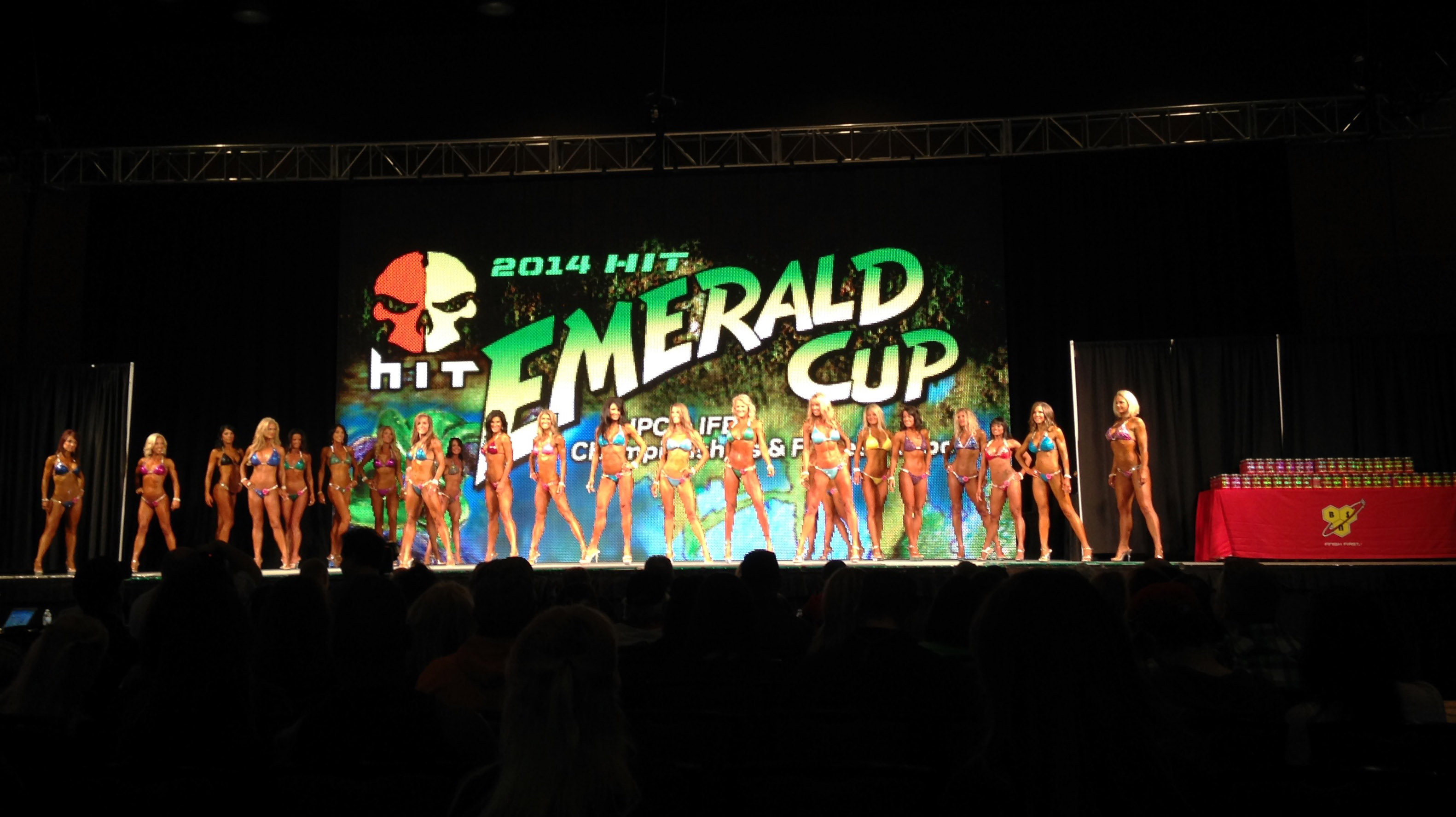 Emerald Cup LED video wall