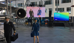 Boeing LED video walls