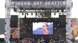 Sky Festival LED video wall