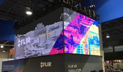 LED video wall with corner