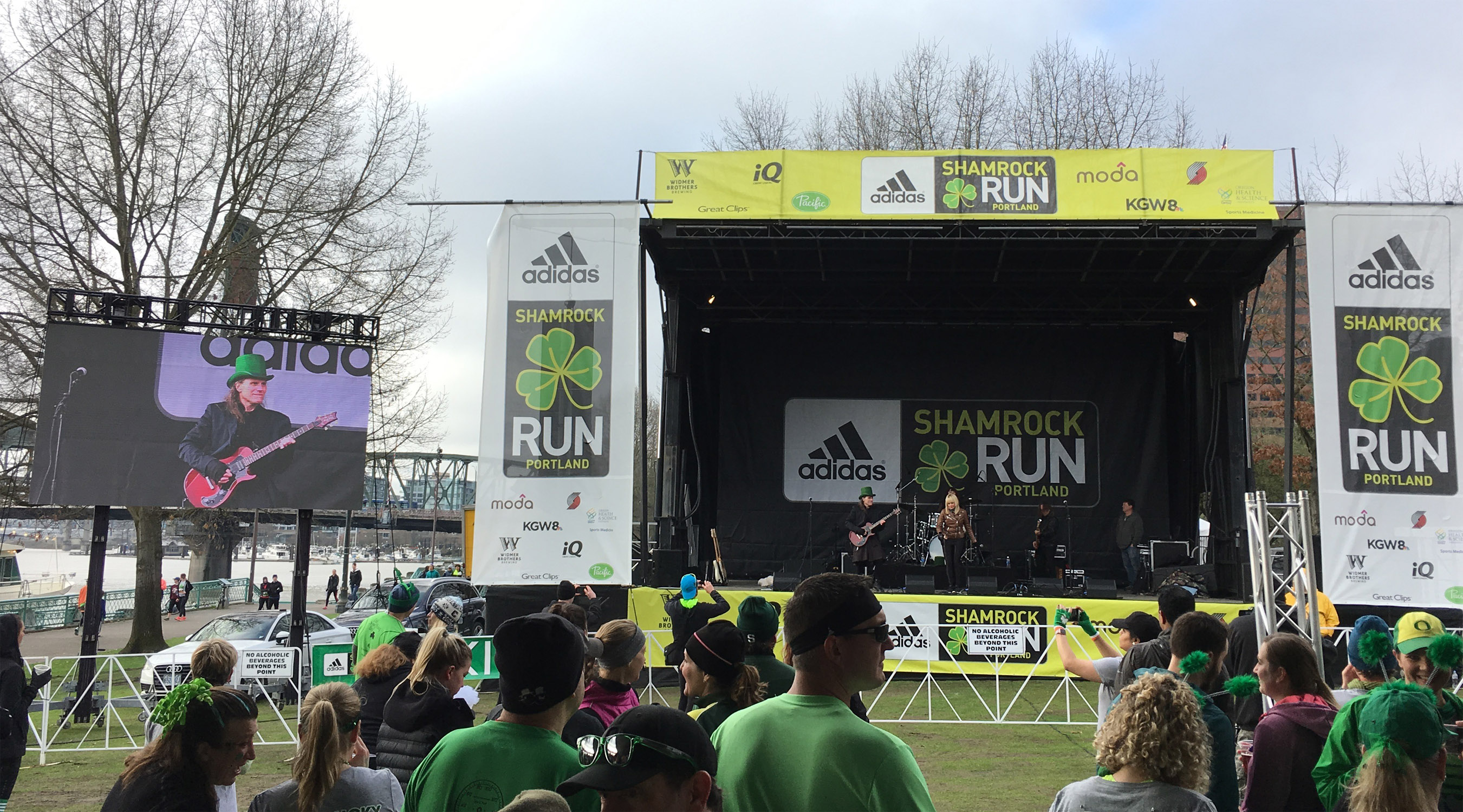 Shamrock Fun Run LED video wall