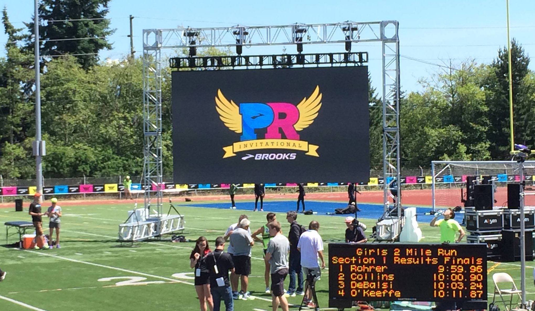 Outdoor LED video wall for sports