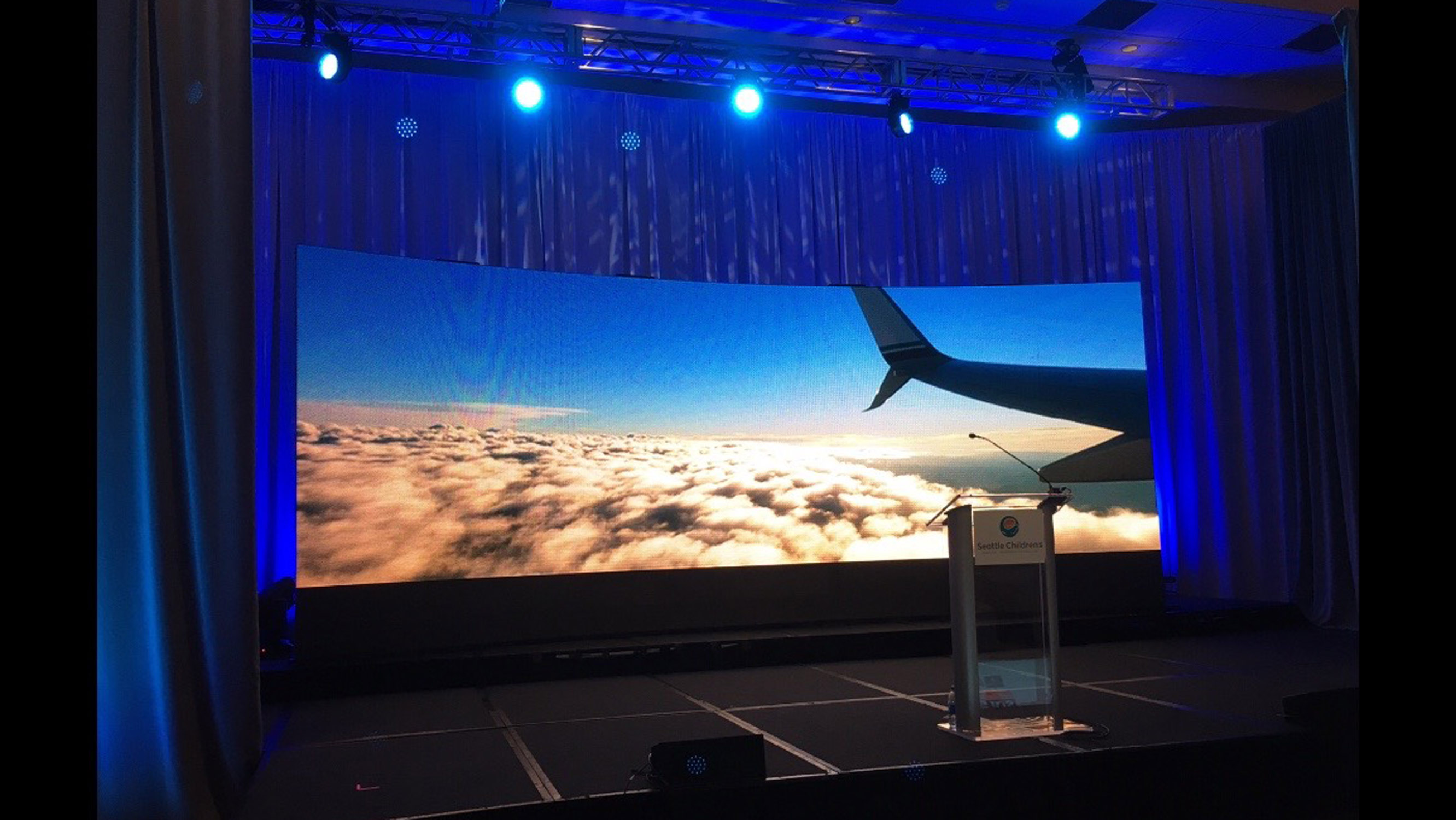24' x 8.5' curved LED video wall