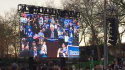 Bernie Sanders LED video wall