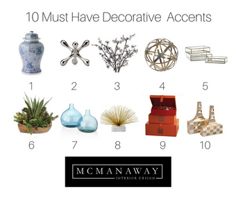 Top 10 Must Have Decorative Accents