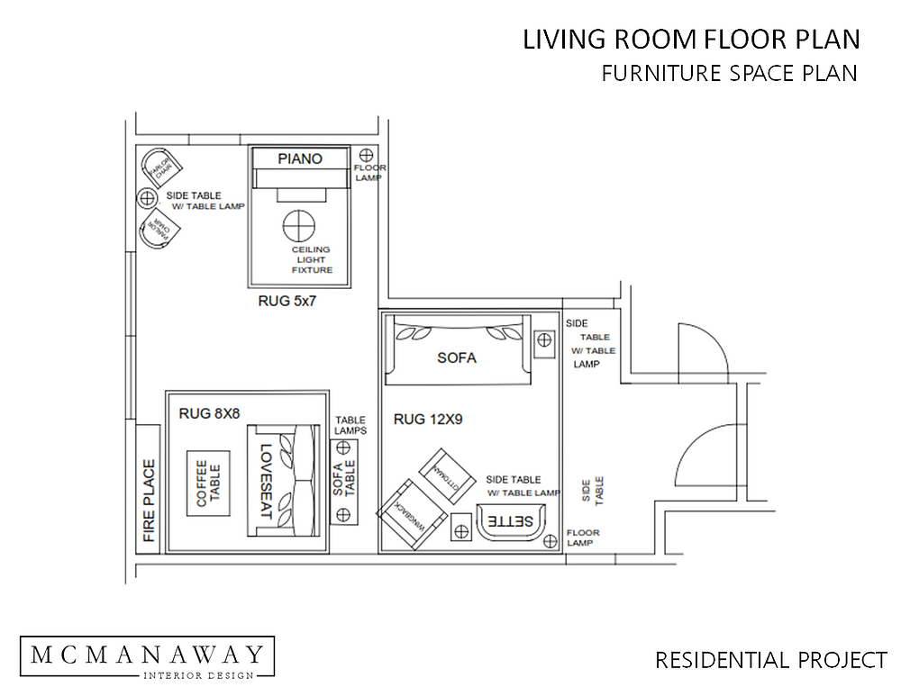 E-Design Floor Plan Layout