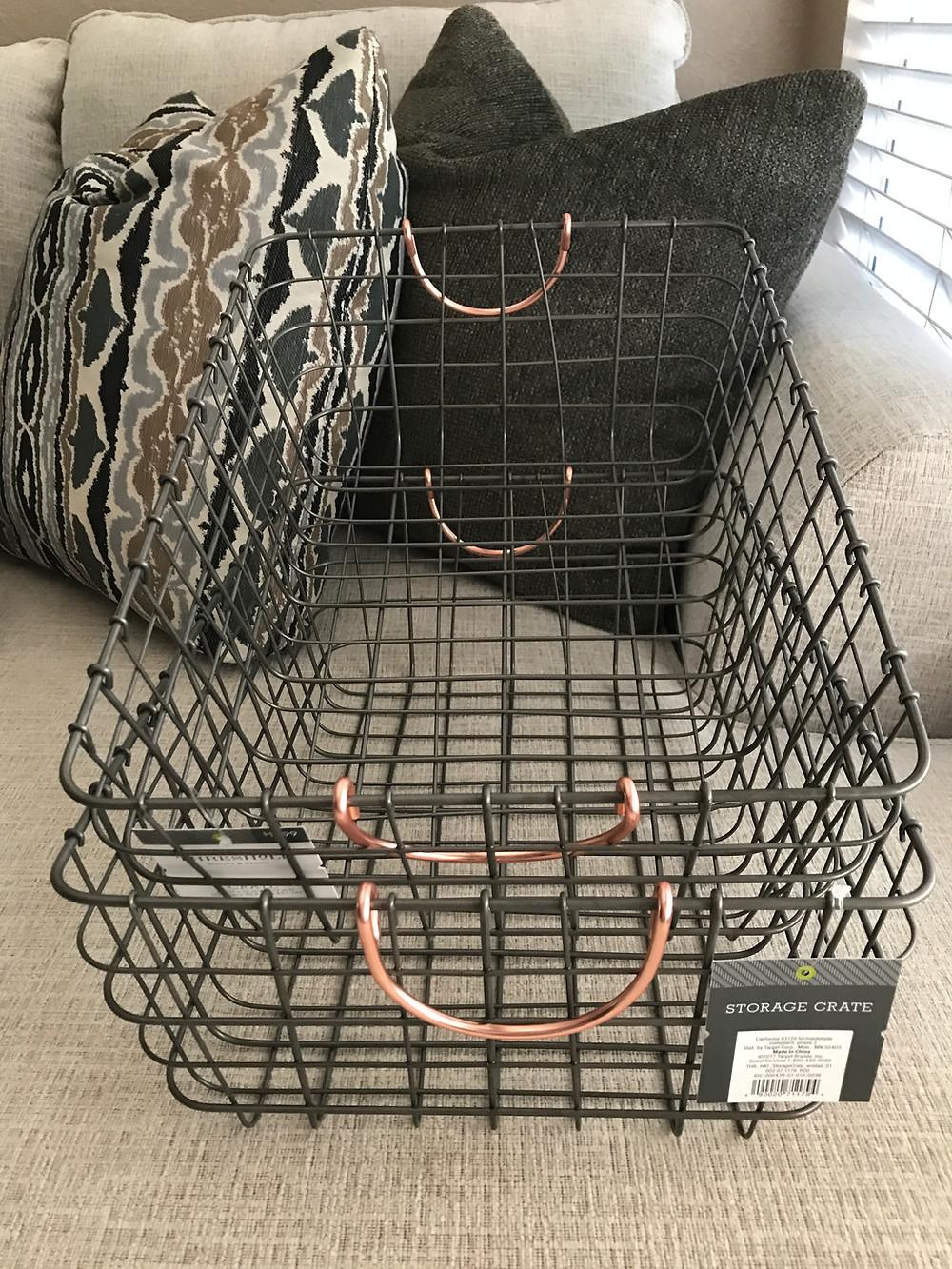 Stylish Organization with Wire Baskets