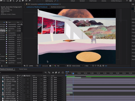 Projection experimental workshop,  using After Effects.