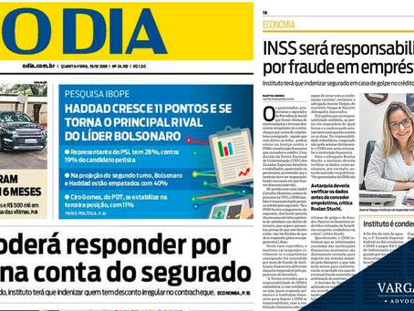 INSS será responsabilizado por fraude em empréstimo